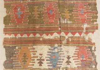 Antique West Anatolian Dazkırı Kilim Size.213x135cm