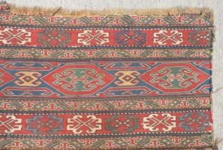 Antique Shahsavan Sumak Panel two pieces Size.118x100cm