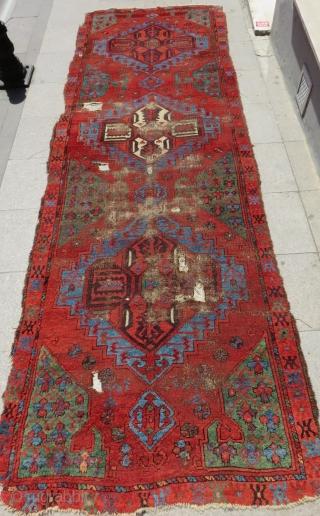 Second half 18th Century Central Anatolian Karaman Ayranci Rug Size.365x120 Cm