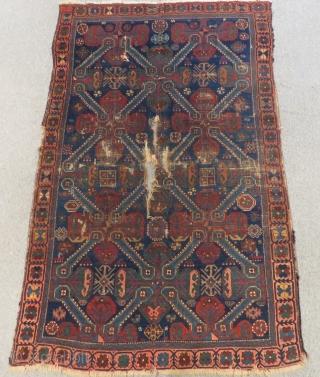 Antique Caucasian Zeyhur Rug Size.190x118cm