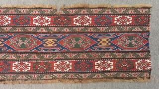 Antique Shahsavan Sumak Panel Size.98x37 Cm