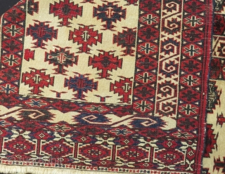 Antique Yamud Ensi All Colours Natural 70 or 80 Years Old Size.174x120