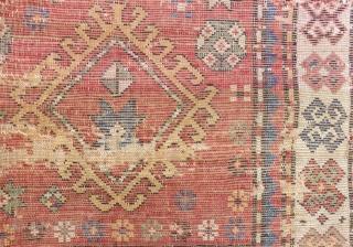 Antique Caucasian Fragment Rug Size.122x68cm