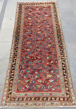 Antique Nord West Persian Rug Size.276x124 Cm
