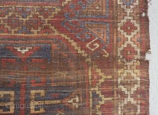 Earyl 19th C Central Anatolian Karaman fragment Rug Size.165x138 Cm