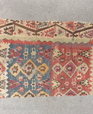 Antique East Anatolian Sivas Kilim One Part Size.380x85cm
