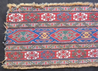 Antique Shahsavan Sumak Panel Size.100x36cm