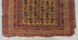 Antique Baluch Prayer Rug Size.144x92cm