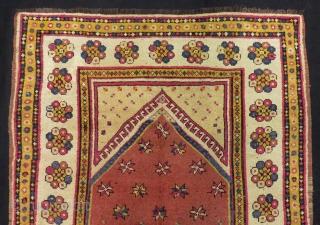 Mid 19th Century Manastır Prayer Rug Size.158x116cm