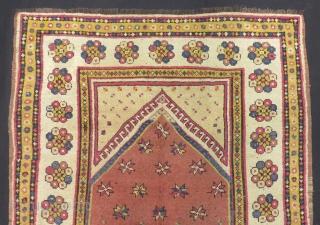 Antique Manastır Prayer Rug Size.158x116cm