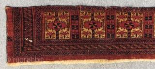 Antique Türkmen Ersari Asmalık Size124x27cm