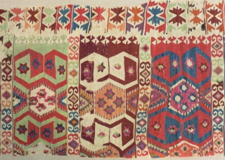 Early 19th Century East Anatolian Kilim Part of one Size.290x85 Cm