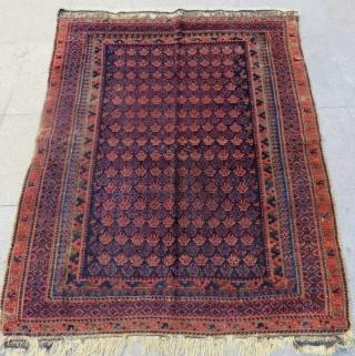 Antique Timurid Baluch Rug Size.138x115cm