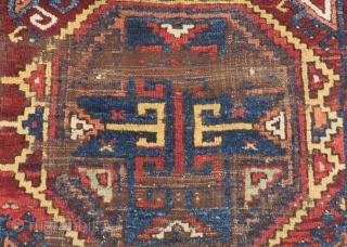 Earyl 19th Century Central Anatolian Karaman Fragment Rug Size.165x138cm