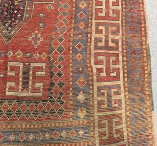 Antique Caucasian Karachopf Rug Circa 1860 1870.Size.224x113cm