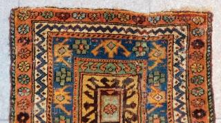 Mid 19th Century Persian Saujbulak Bagface Rug Size.63x60 Cm