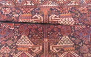 Antique Persian Shiraz Bagface Size.88x77.88x80cm