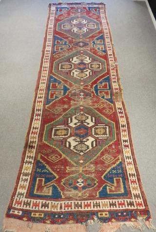 Early 19th Century Central Anatolian Karaman Carpet Size.398x120cm