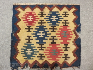 Antique Shahsevan Panel Kilim Size.105x48cm.52x52cm