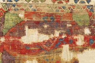 Early 18th Century Kapadokya Frangment Rug Size.108x77cm