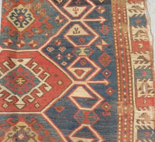 Antique Shahsavan Fragment Rug Size.220x114cm