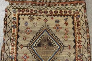 Antique Persian Gabbeh Rug Size.225x135 Cm