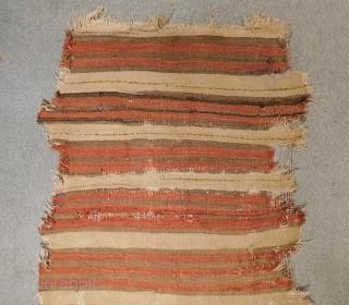 Early 19th Century Kopatocya Striped Kilim fragment Size.275x100 Cm