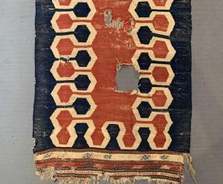 Antique Caucasian Cedde Kilim Circa 1870-80 Size.230x95 Cm