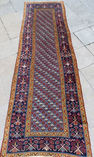 Antique Shahsavan Runner Rug Full condition Size.320x104cm
