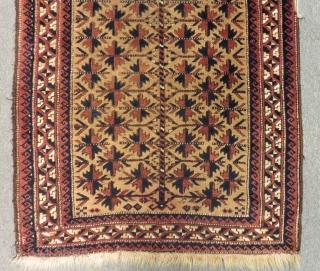 Antique Baluch Prayer Rug Size.160x80 Cm