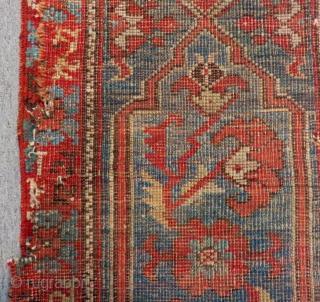 Second 18th C West Anatolian Ushak fragment Rug Size.270x60 Cm