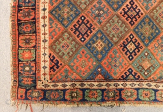 Antique Persian Jaff Bagface All Colours Nutral Size.82x60 Cm