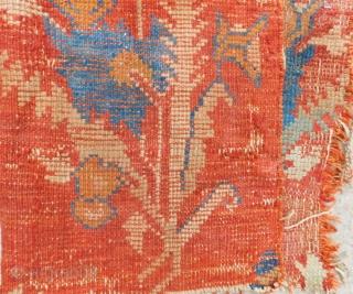 Early 19th Century Ushak fragment Size.90x50 Cm