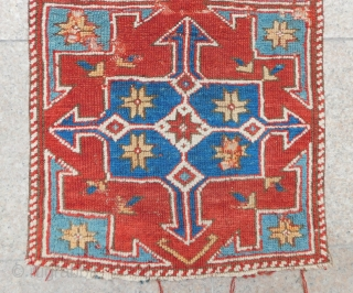 Early 19th Century West Anatolian Rug Size.100x57 Cm
