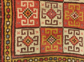 18th Century Central Anatolian Konya Bozkır Rug Size.188x133cm