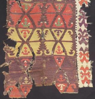 Anatolian kilim Fragment One Part Size.195x75cm