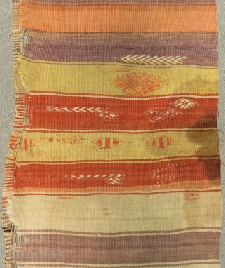 Earyl 19th Century Kapadokya Striped fragment Kilim Size.230x70cm