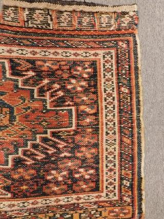 Antique Persian Bahtiyari Bagface Size.65x55 Cm