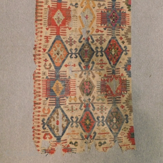 Early 19th Century Anatolian Kilim fragment Size.180x70 Cm