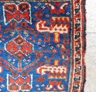 Antique Persian Kurdish Bagface Size.60x55 Cm