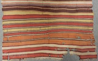 18th Century Central Anatolian Kapodokya Striped Fragment Kilim Size.172x160cm