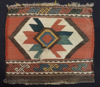 Antique Caucasian Kilim Bagface Two pieces Size.44x40.44x40cm