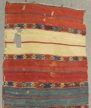 18th Century Anatolian Striped Kilim Size.200x73cm