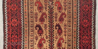 Antique Baluch Prayer Rug Size.140x83cm