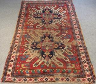 Antique Caucasian Chelaberd Rug Size.213x142cm