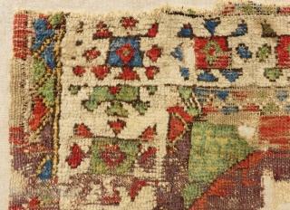 Early 18th Century Kapadocya frangment Rug Size.108x77 Cm