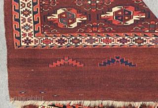 Antique Türkmen Yamud Chuval Size.118x82 Cm