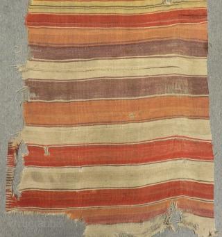 18th Century Central Anatolian Kapadokya Striped Kilim One Part Size.350x90cm