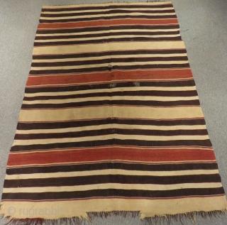 19th Century Southern Anatolian Mut Striped Kilim Size.210x142cm