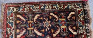 Antique Qashqai Khamseh Bagface Some places have silk Size.73x56cm